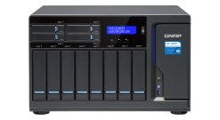 "Система хранения Qnap TVS-1282T3-i7-64G NAS 8 tray 3,5"""", 4 tray 2,5"""", 2 x M.2 slots, 3 HDMI, 2 x 10 GbE BASE-T, 4 x ports Thunderbolt 3. 4-core Intel Core i7-7700 3,6 GHz, 64 GB DDR4"
