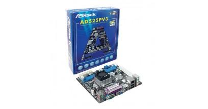 Материнская плата ASRock iNM10+D525, 2xDDR3, VGA+PCI, 6xAudio, GBL, 2xSATAII, COM+LPT port, mITX