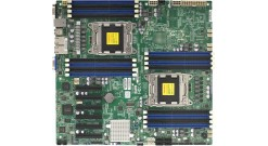 Материнская плата Supermicro MBD-X9DRD-EF, 2xLGA2011, C602J, Xeon E5-2600, E-ATX 12''x13'', 16xDIMM (up to 512GB RDIMM/128GB UDIMM), 6xPCI-E 3.0 x8, 6xSATA (4xSATA2 + 2xSATA3 RAID 0,1,5,10), 2x1 GBase-T with i350 1GbE, VGA Matrox G200,