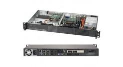 """Серверная платформа Supermicro SYS-5019A-12TN4 1U Atom C3850 4xDDR4 SO-DIMM ECC, 2x3.5""""""""(4x2.5"""""""") HDD, IPMI,4GbE, 200W"""