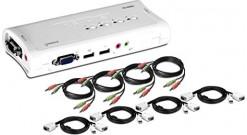 TK-409K* 4-Port USB KVM SwitchKit w/ Audio..