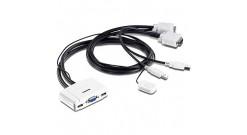 TRENDnet  2-port USB KVM Switch (клавиатура USB+мышь USB+VGA15pin, проводной ПДУ..