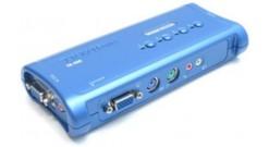 Переключатель TRENDnet TK-408K 4-х портовый коммутатор аудио КВМ, PS2/2, с компл..