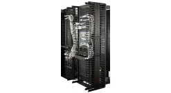 """Valueline, Vertical Cable Manager for 2 & 4 Post Racks, 84""""""""H X 12""""""""W, Double-Sided with Doors"""
