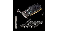 Видеокарта PNY Nvidia Quadro P620DVI 2GB DDR5, PCIE, 128-bit 512 Cores, 4*mDP1.4, 4*mDP to DVI-D SL adapter, LP bracket, Bulk
